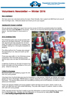 2016 Winter Newsletter